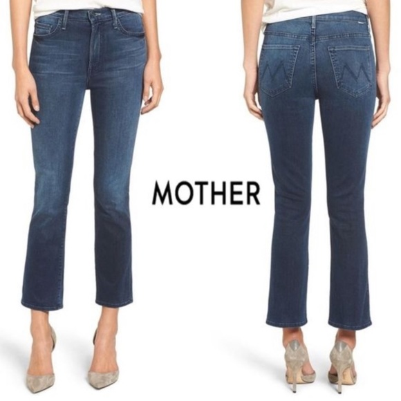 "MOTHER Denim - 🎉HP🎉MOTHER Insider Crop in ""Repeating Love"" Wash"